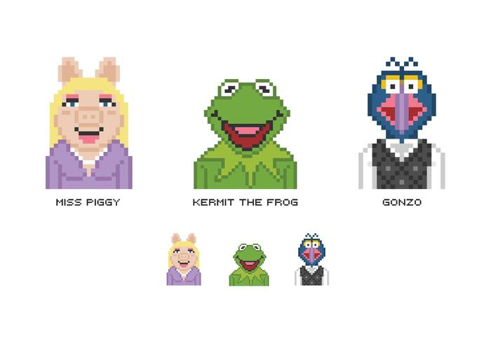 Free Pixel Muppet Show Vector Characters