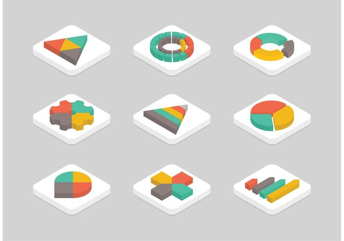 Free Flat Isometric Graphics vector Icon Set