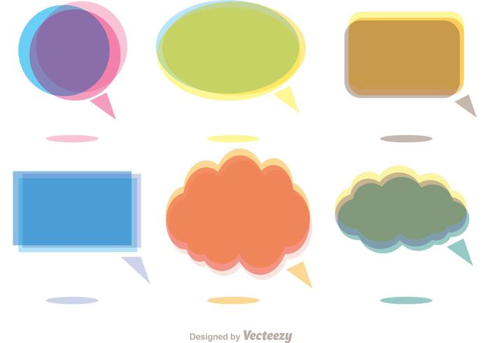 Colorful Chat Icons Vector Pack
