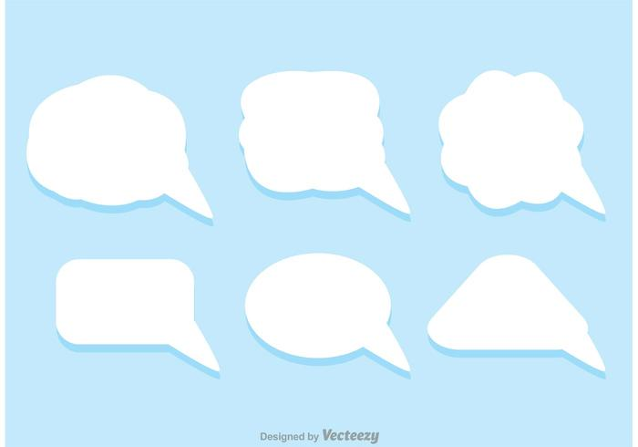 White Live Chat Icons Vector Pack
