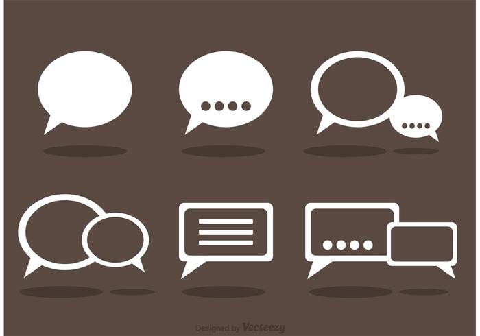 Chat Icons Vector