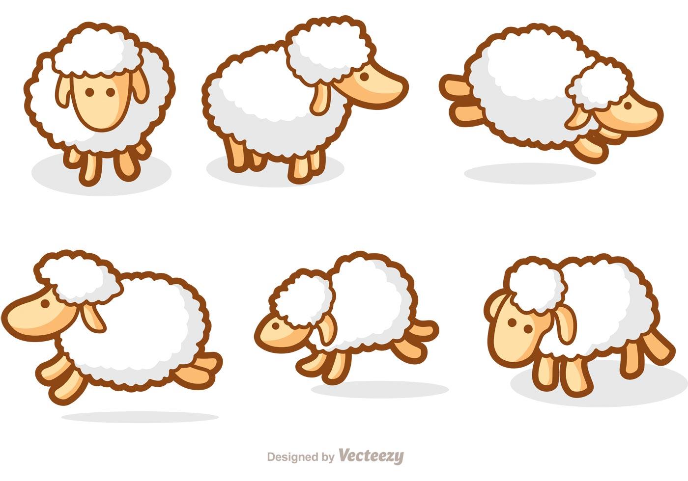 Cute Sheep Vectors - Download Free Vectors, Clipart ...