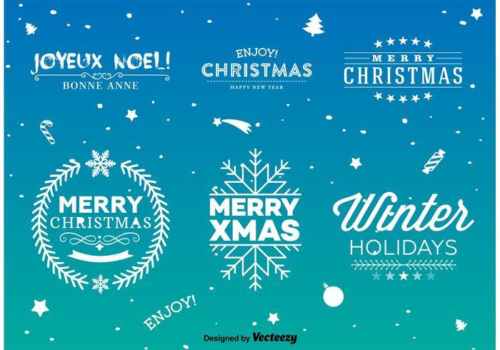Weihnachten Typ Schilder