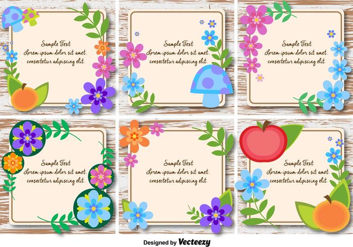 Spring and Floral Text Frames