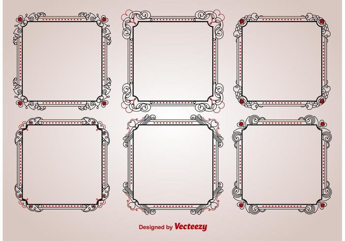Valentine Ornamental Frame Vectors