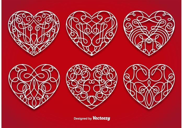 Ornamental Heart Vectors