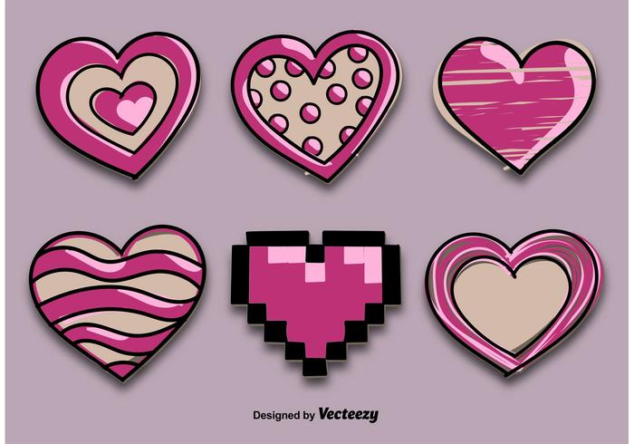 Dekorative gezogene Herzen