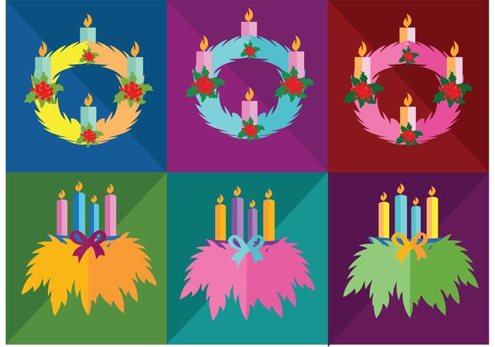 Simple Advent Wreath Vectors