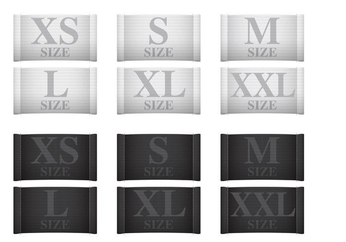 Etiquetas de roupas de medição