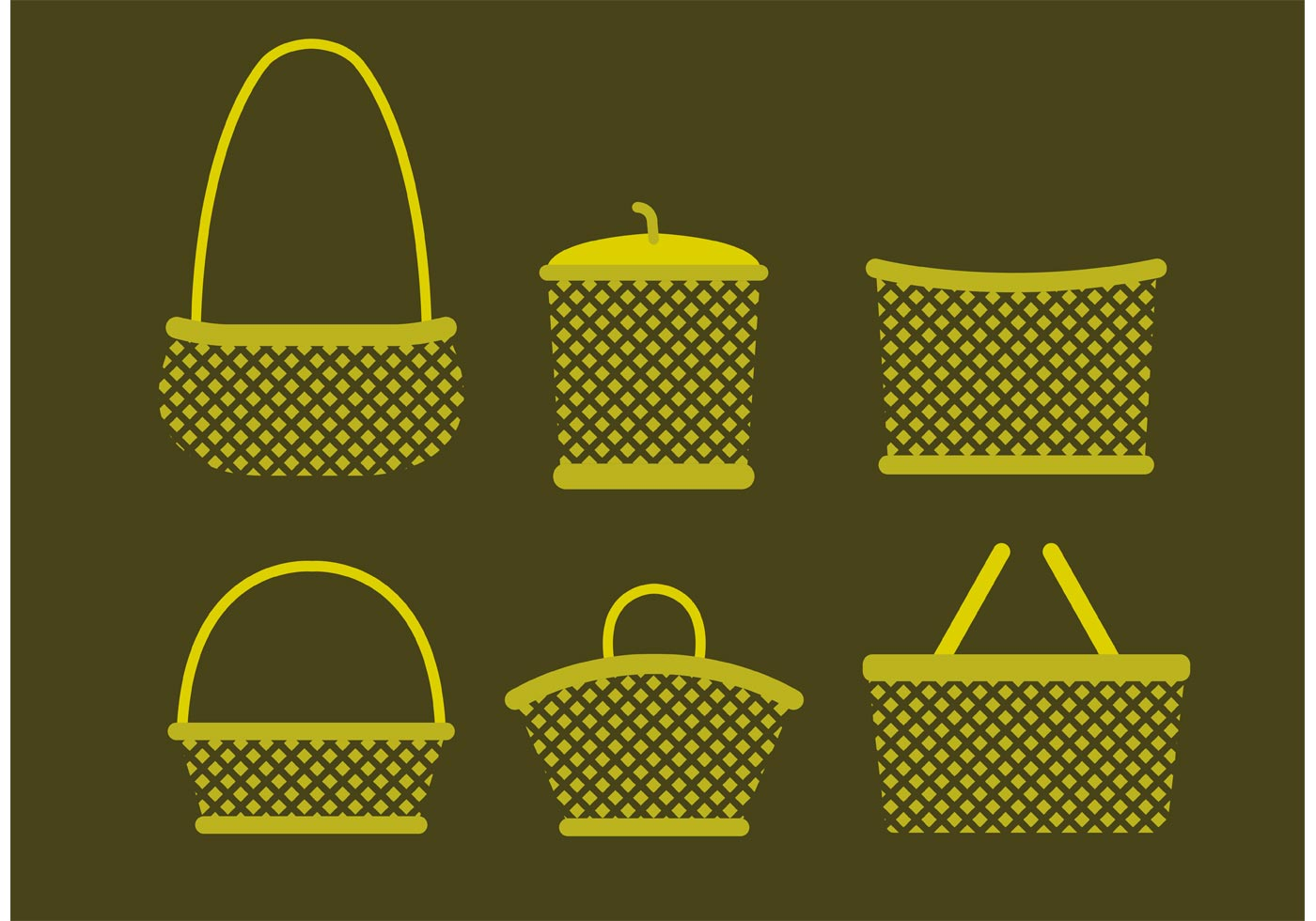 Old Basket Vectors Download Free Vector Art Stock