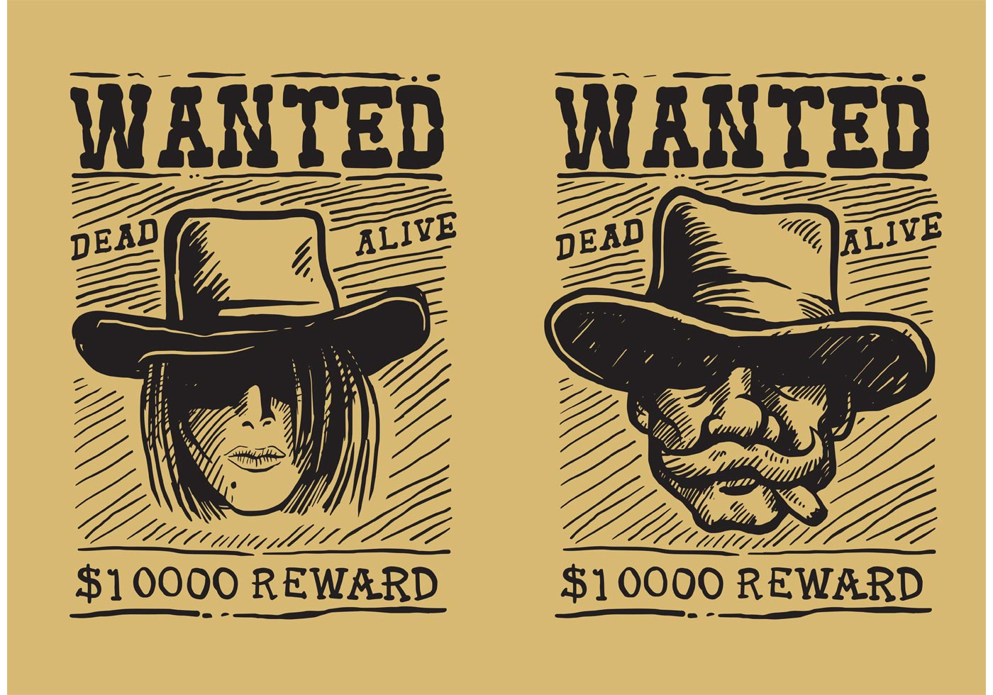 Wanted Poster Free Vector Art 13502 Free Downloads