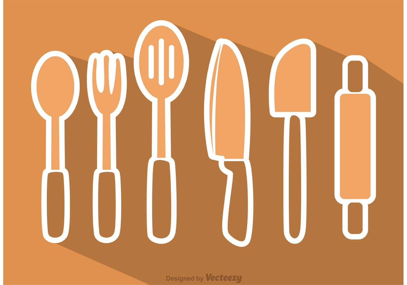 kitchen utensil vectors pack download free vector art