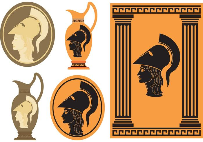 Athena Greek Goddess vector