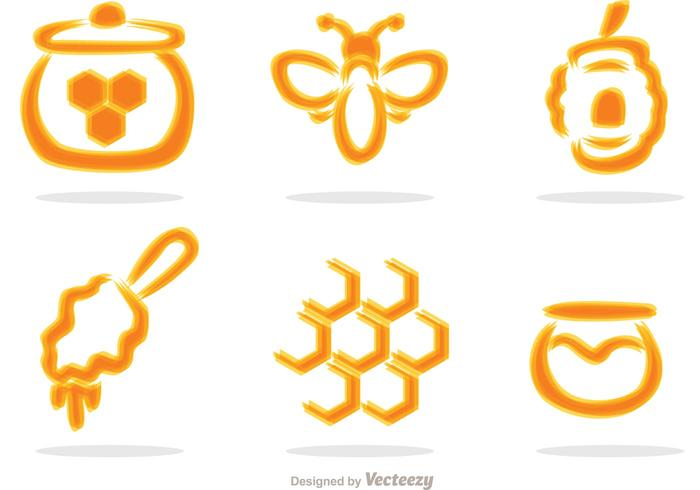Blurry Honey Set Vector