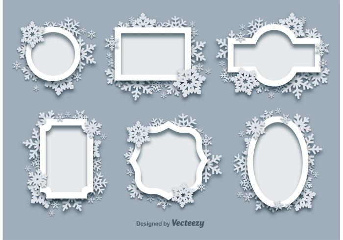 Winter Snow Frames Download Free Vector Art Stock Graphics Images
