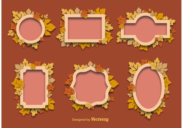 Autumn Decorative Frames - Download Free Vector Art, Stock Graphics ...