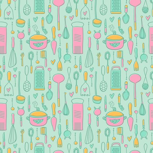 Free Vintage Kitchen Pattern Vector