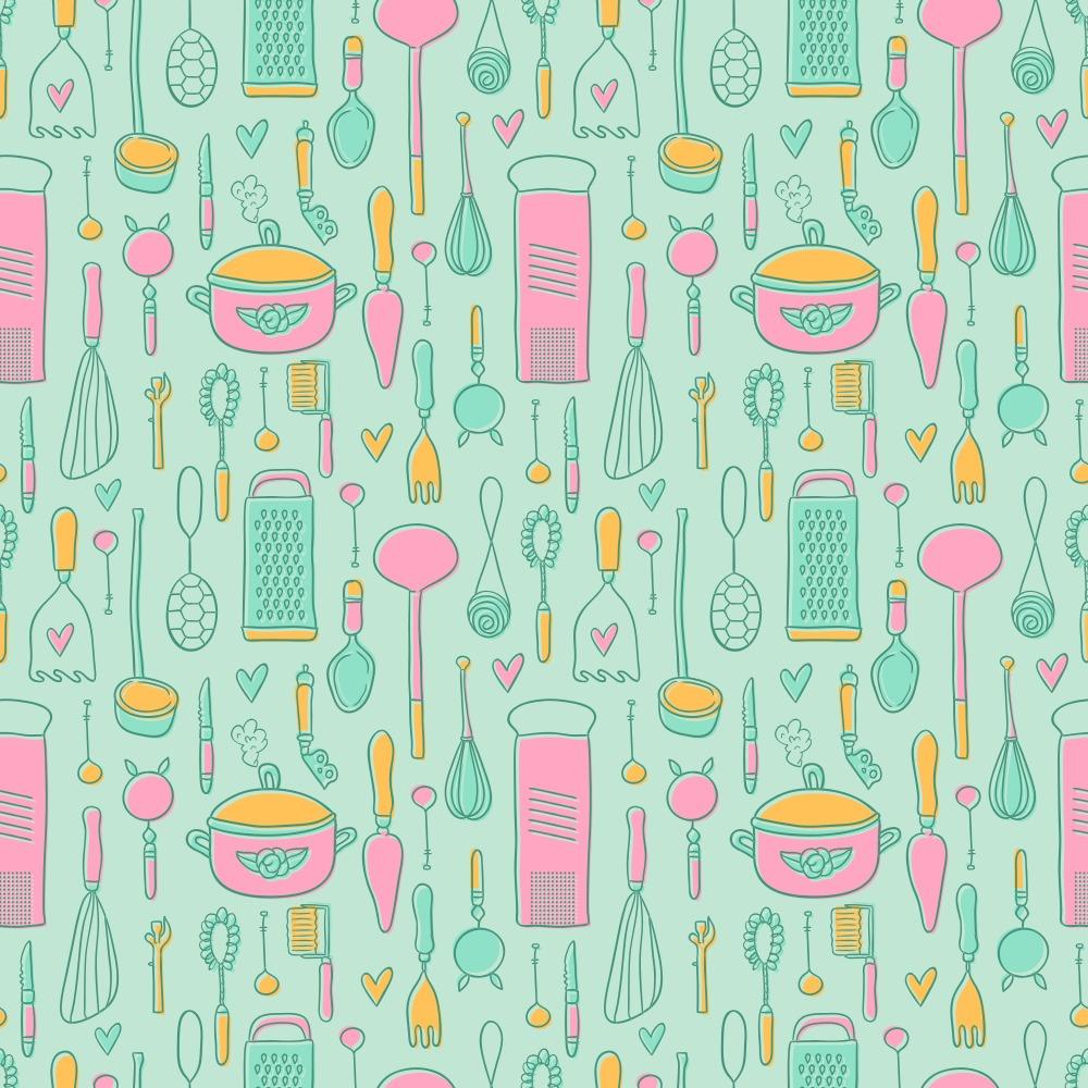Vintage Kitchen Pattern Free Vector Art - (26274 Free Downloads)