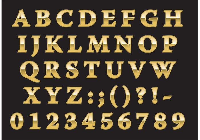 Golden Roman Type