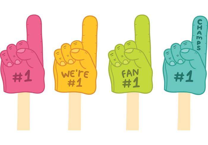Free #1 Foam Finger Vectors