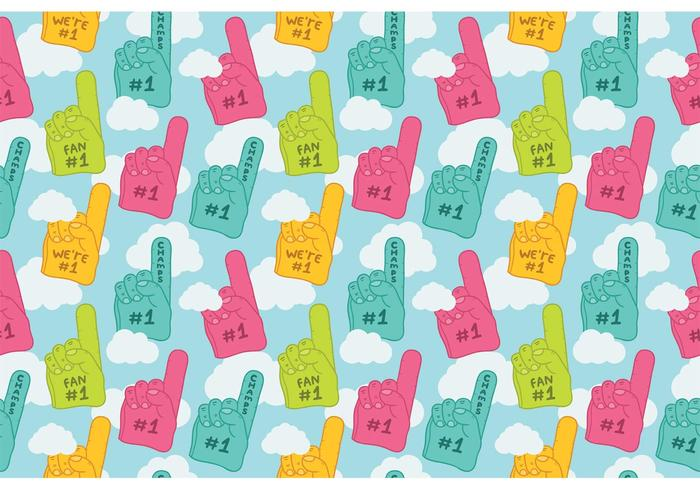 Free #1 foam finger seamless pattern vector