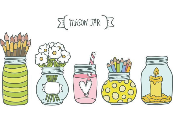 Free Mason Jar Vectors