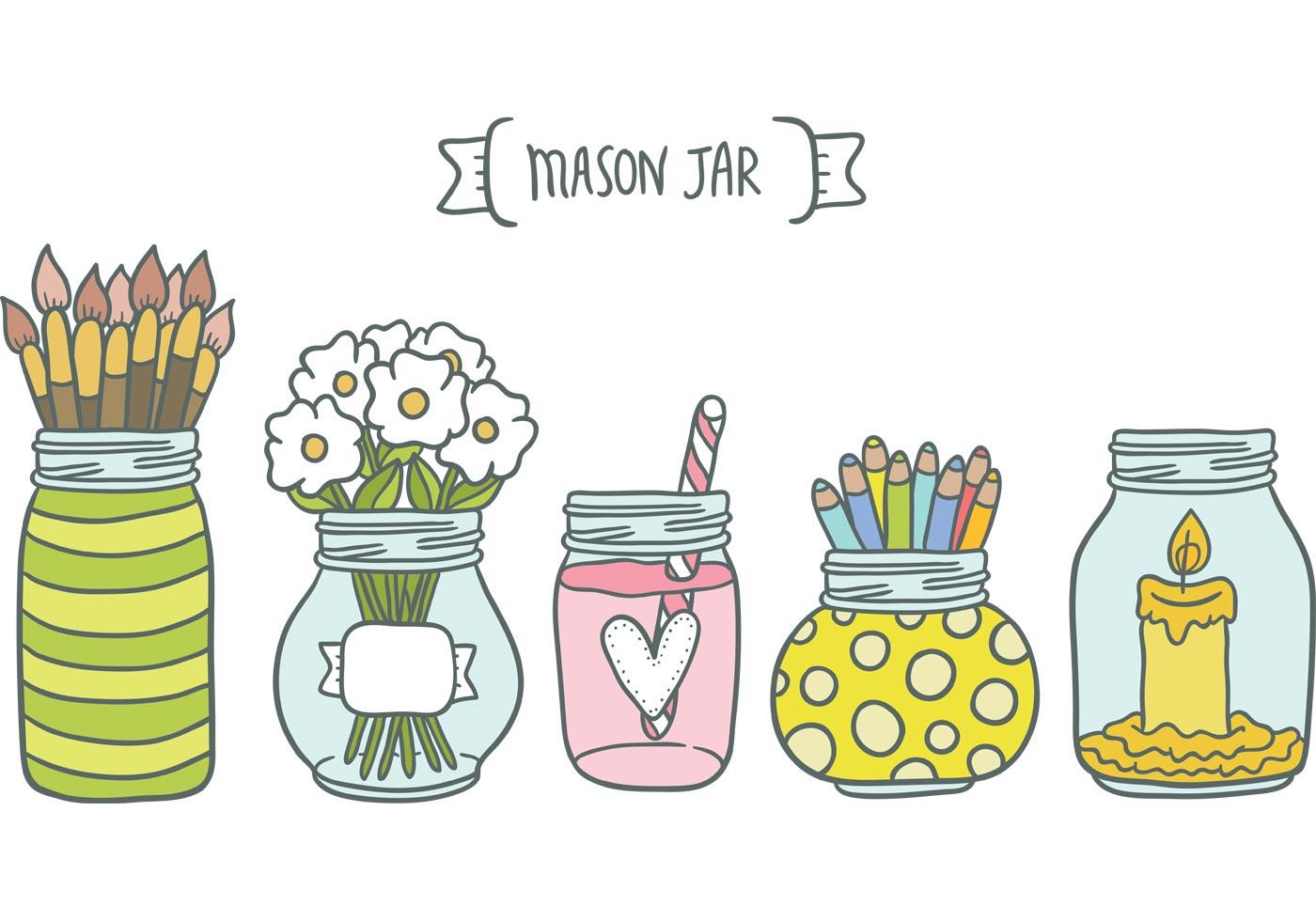 Free Mason Jar Vectors - Download Free Vectors, Clipart ...