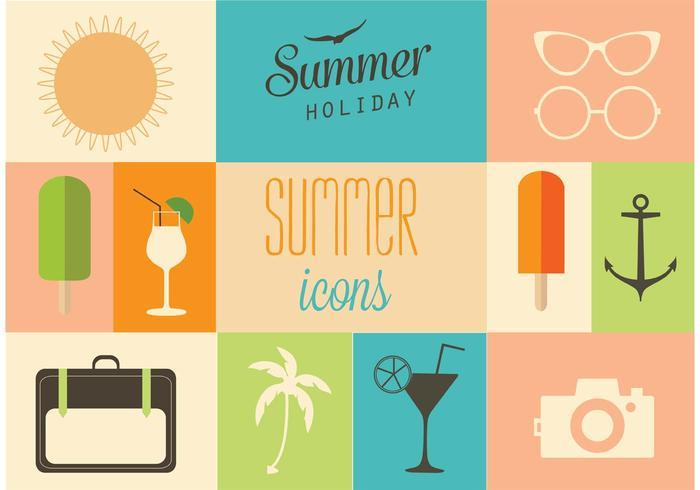 Free Vector Summer Designs