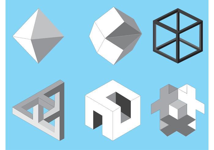 Free vector isometric icons