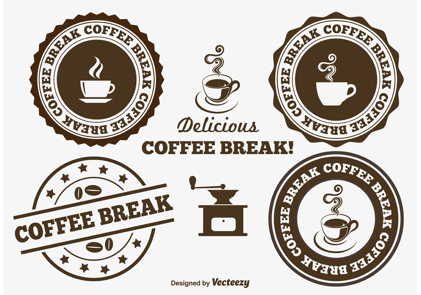 coffee break badges download free vector art stock graphics images. Black Bedroom Furniture Sets. Home Design Ideas