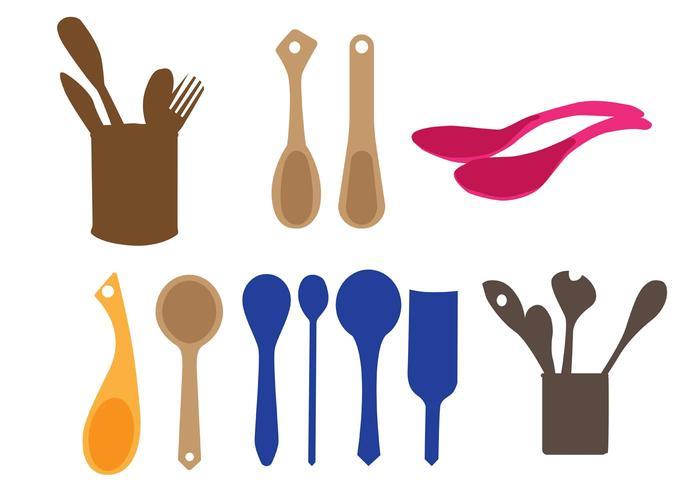 Vector Wooden Spoons