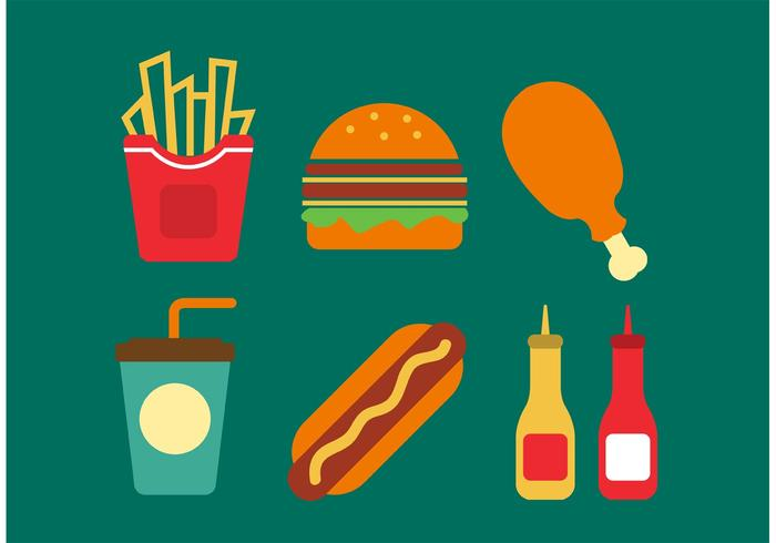 Food And Beverage Background Vector