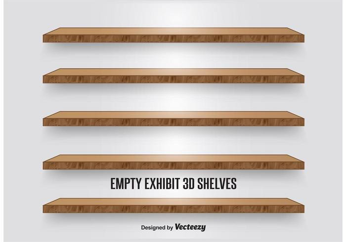Wooden Display Shelves vector