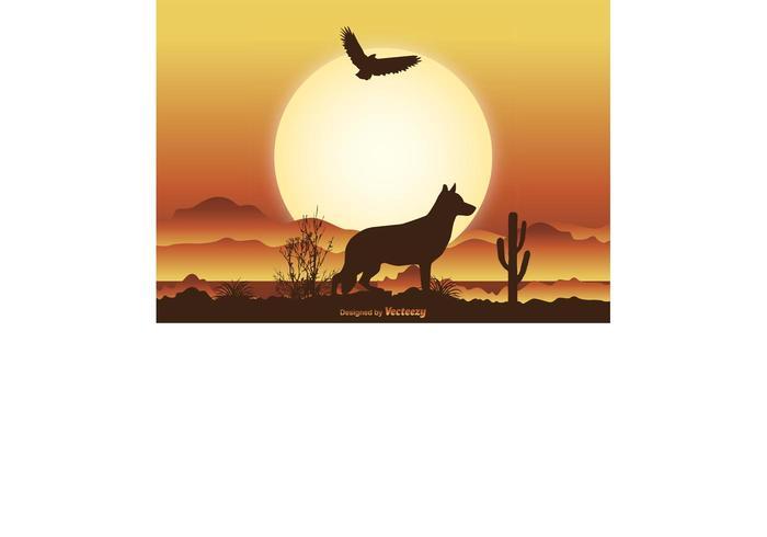Desert Scene Illustration