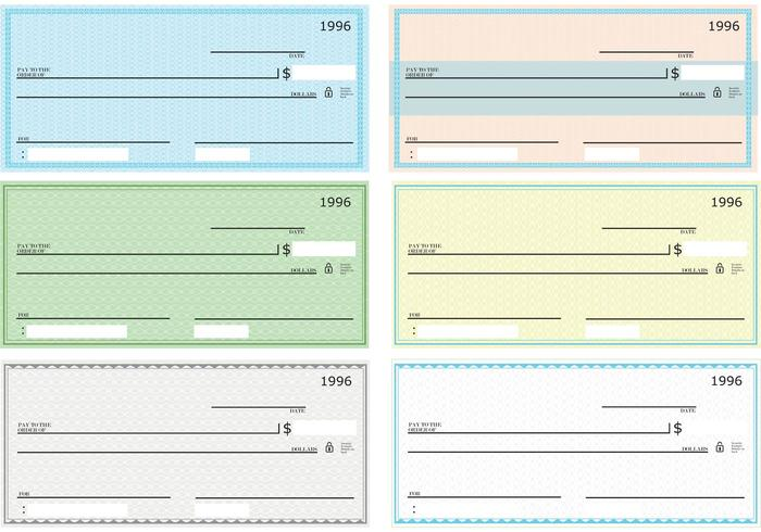 Blank Check Vector Pack - Download Free Vector Art, Stock Graphics ...