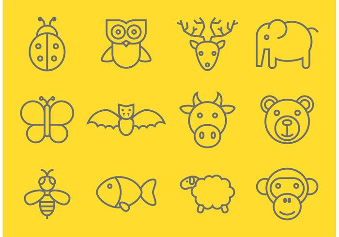 Outlined Animal Vectors
