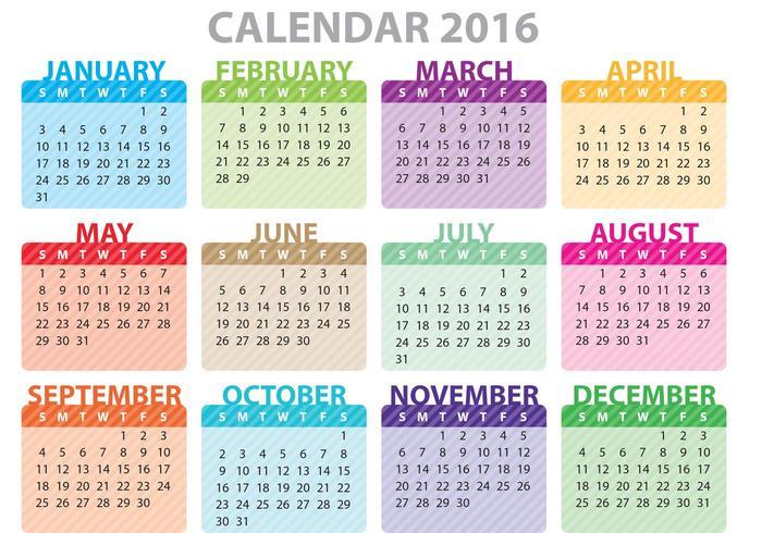 Färgrik kalender 2016