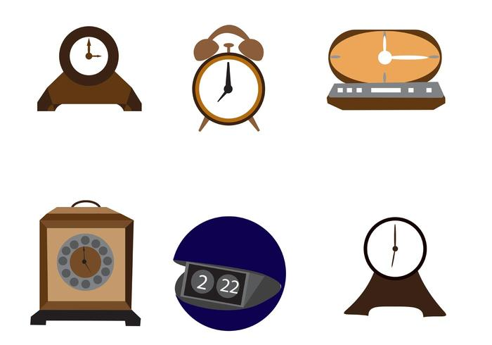 Vector Desktop-Uhr Icons