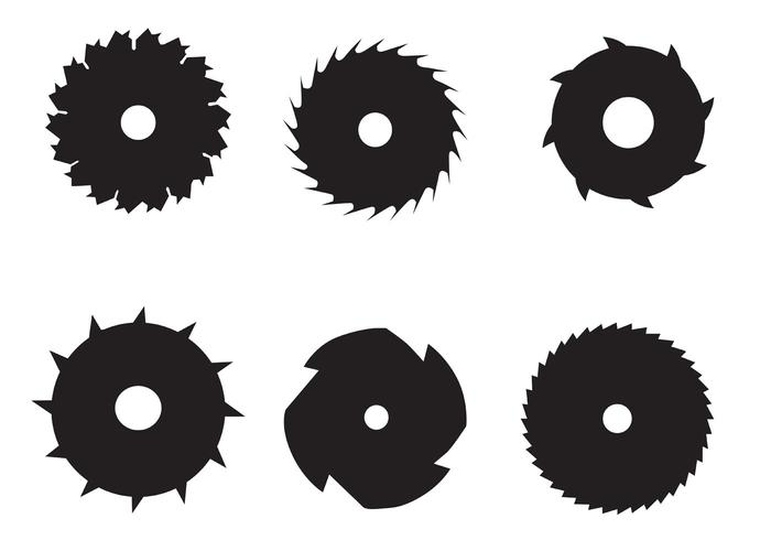 Circular Saw Blade Vectors