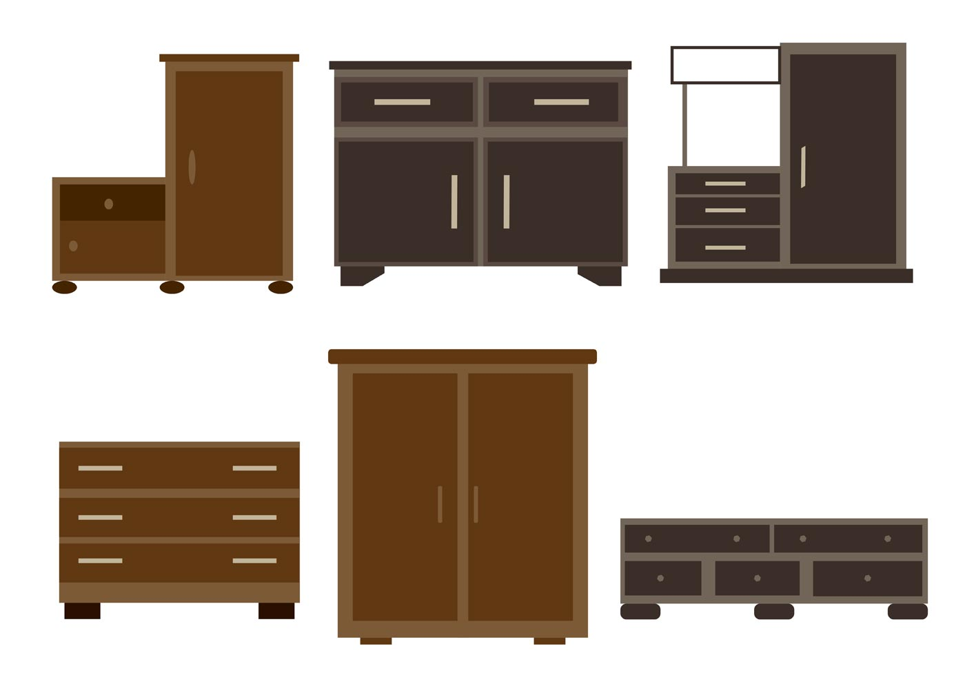 Wooden Furniture Vectors Download Free Vector Art Stock