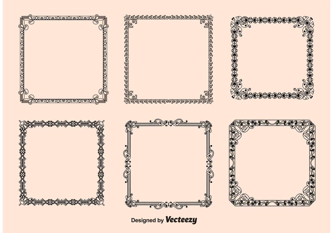 vintage frames vectors