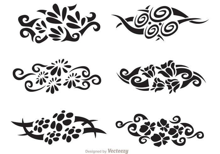 Floral Hawaiian Tribal Vector Pack
