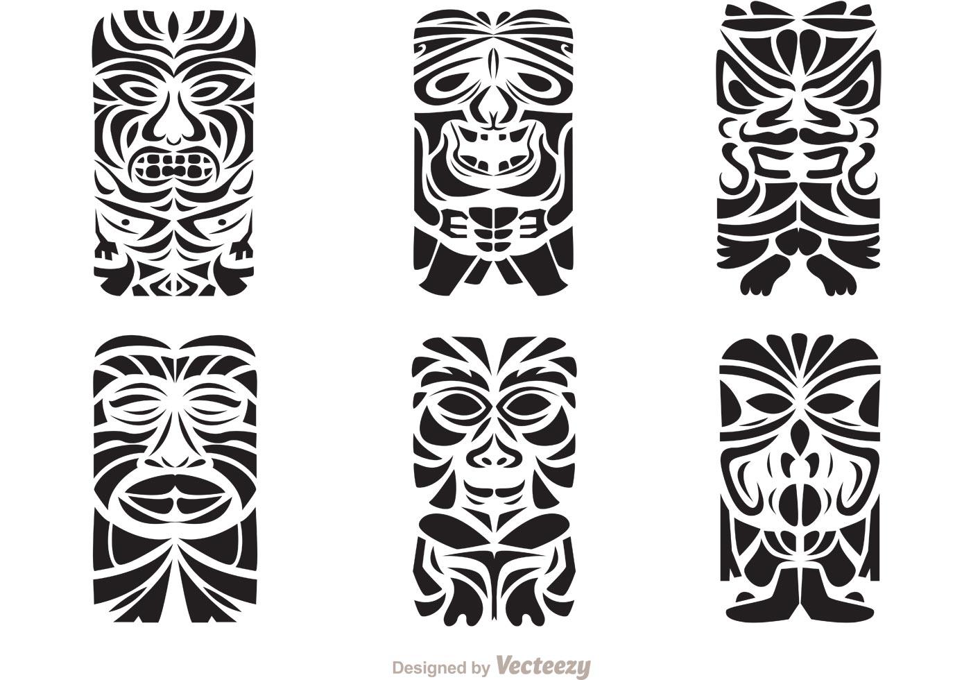 Tiki Totem Hawaiian Tribal Vectors - Download Free Vector ...