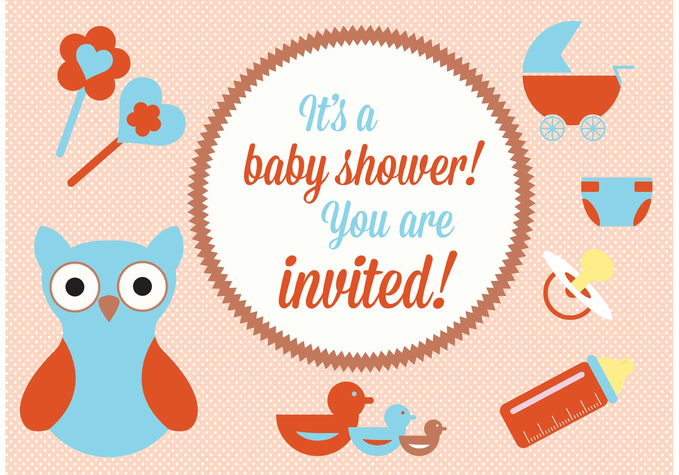 Free Baby Shower Vector Images ~ Baby shower vector elements download free art