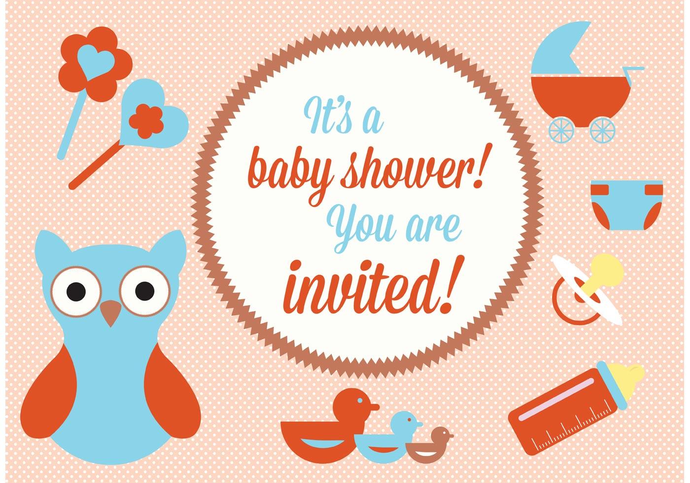 baby shower vector elements