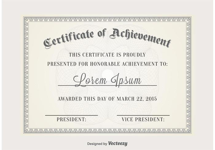 Certificate Vector Template  Certificate Of Appreciation Templates Free Download