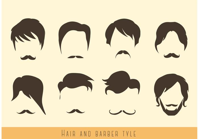 Hair and Mustache Vectors