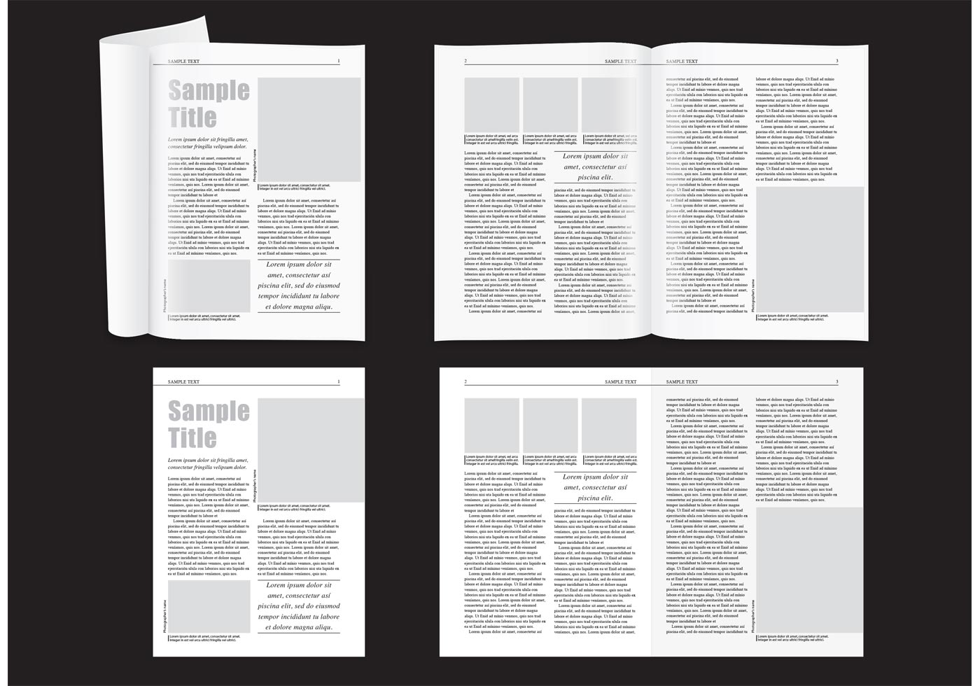 Minimal Magazine Layout Download Free Vector Art Stock Graphics