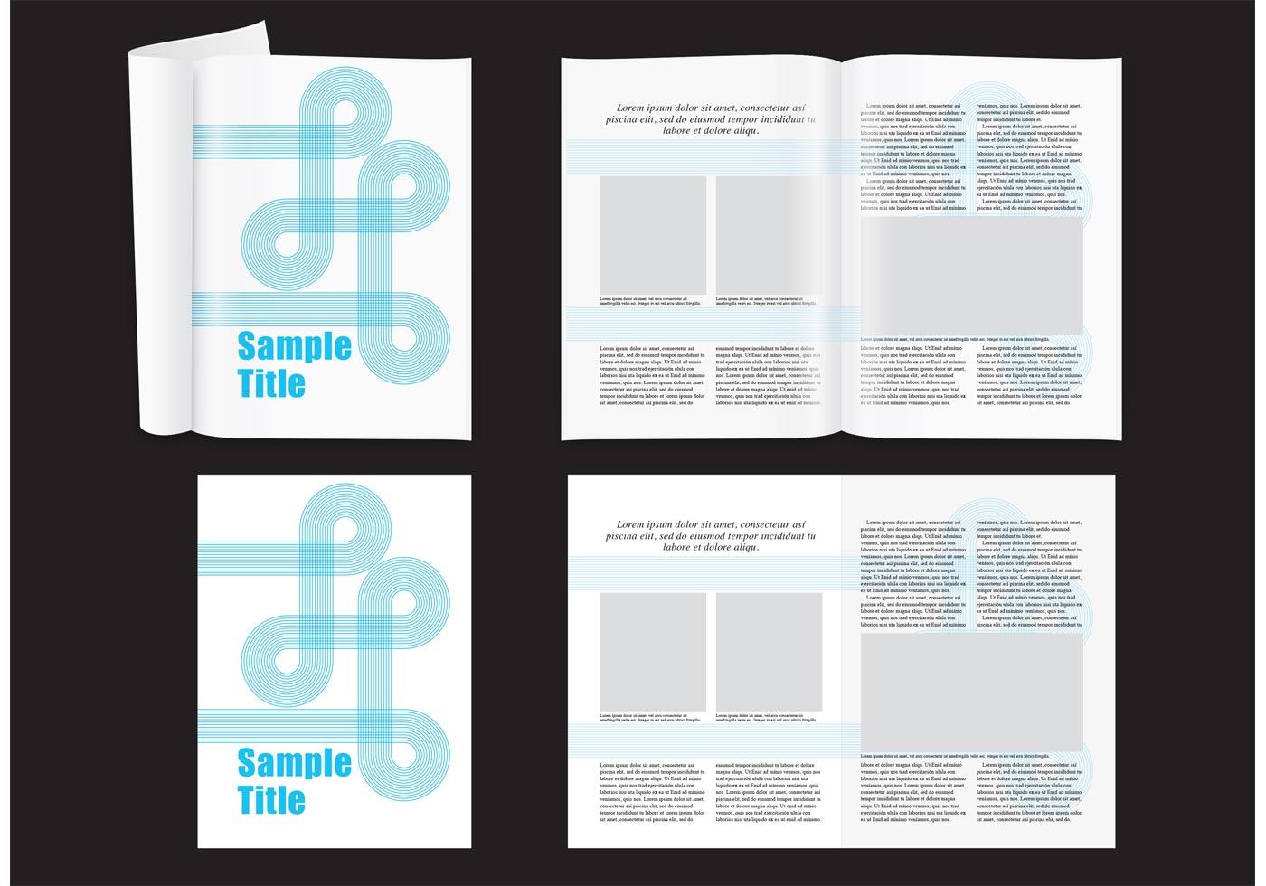 Modernes Magazin-Layout - Kostenlose Vektor-Kunst, Archiv-Grafiken ...