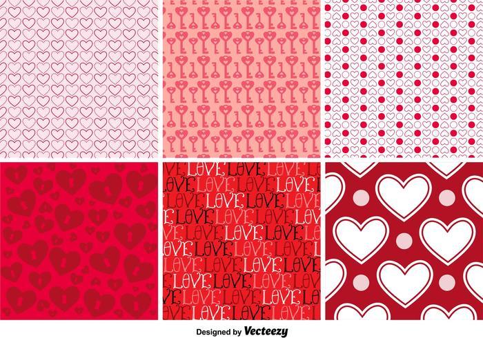 Amor patrones de fondo